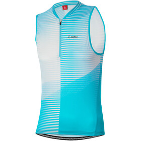 Löffler Aero Half-Zip Bike Tank Top Women, cool water